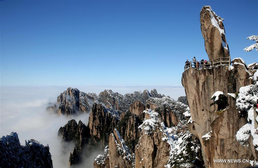 Photo taken on dec 6 2015 shows the snow scenery of huangshan