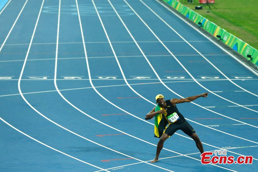 100 Meters Visual : Usain bolt wins the meters