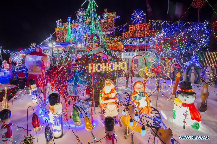 Christmas In Toronto Canada.Colorful Christmas Lights Seen In Toronto Canada 2 5