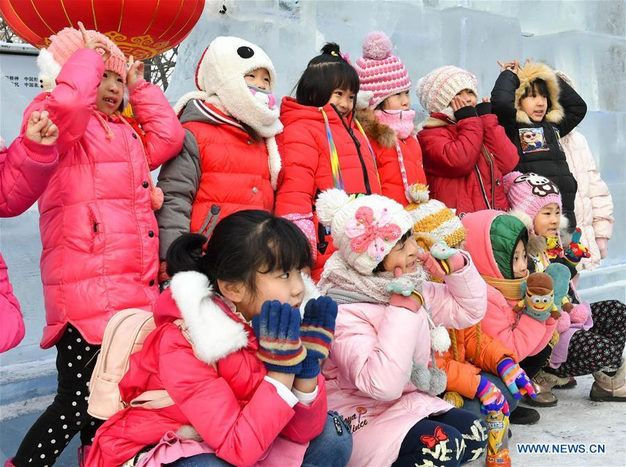 43th harbin ice lantern carnival held