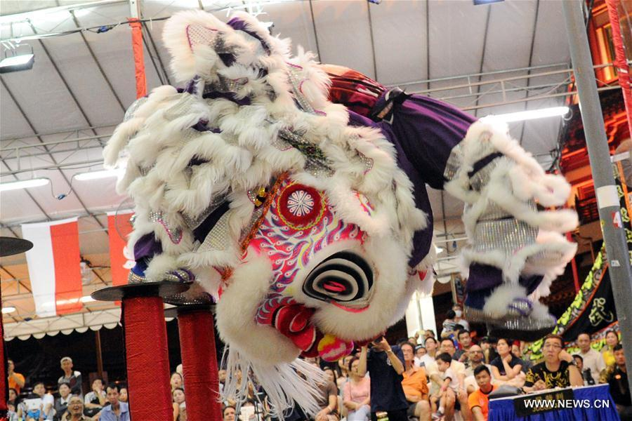Lion Dance Competition kicks off in Singapore's Chinatown ...
