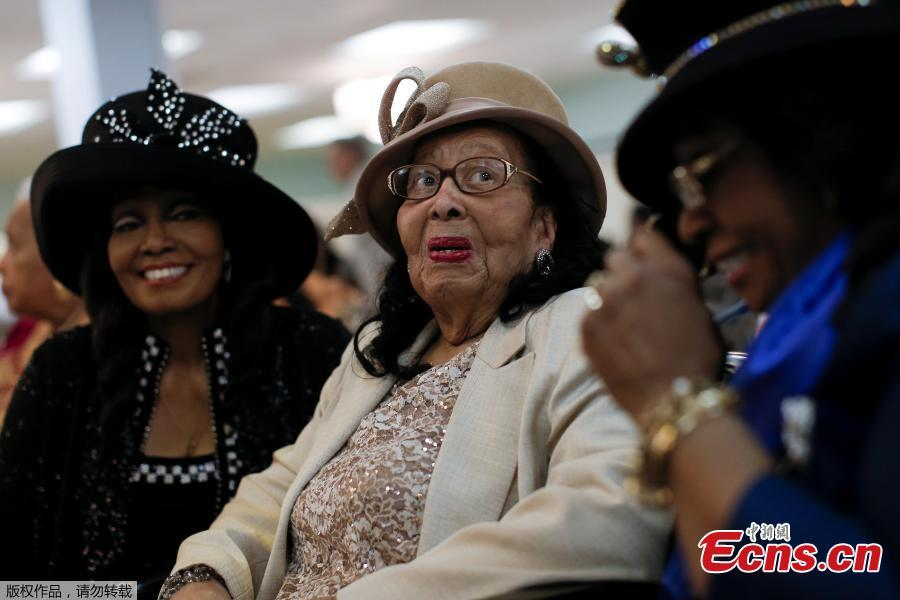 102 Year Old Marie Baker Sits With Her Twin Daughters At A Birthday