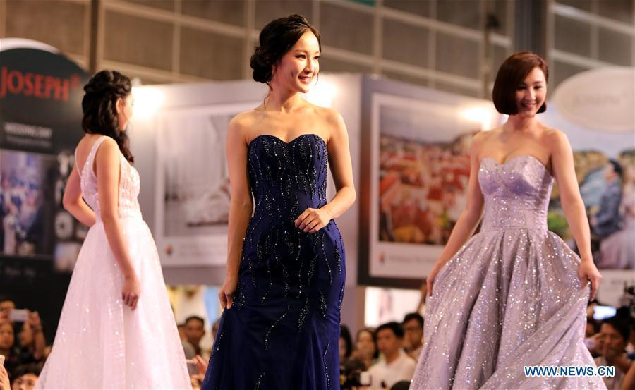 Wedding dresses presented at Hong Kong Wedding Fair(1/9)