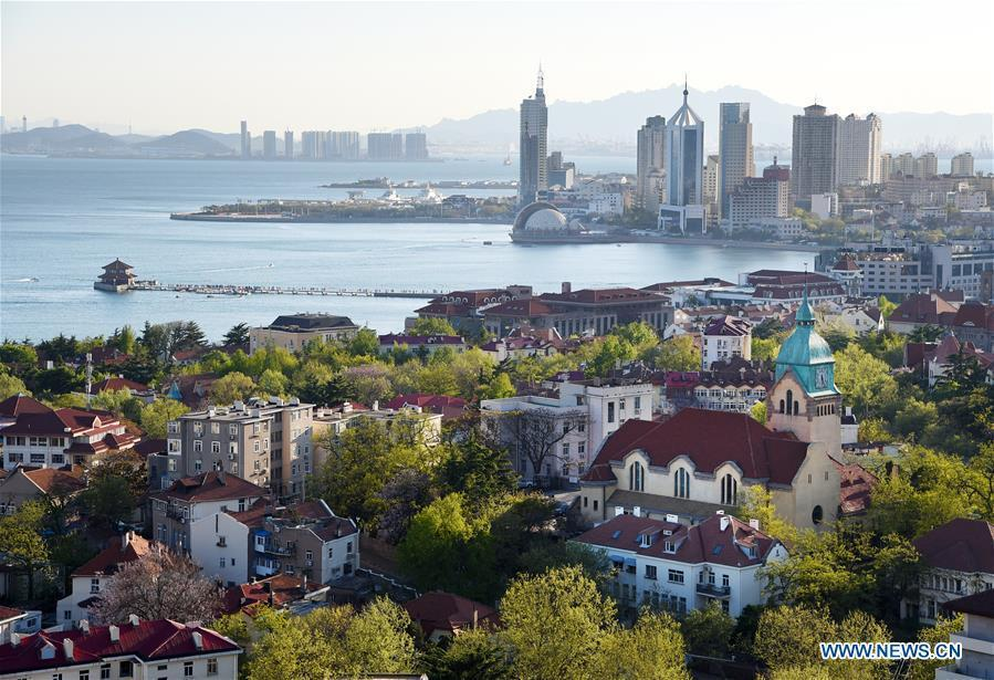 Photo taken on May 3, 2018 shows the old town in Qingdao, a coastal city in east China\'s Shandong Province. Home to Tsingtao Beer and home appliance giant Haier, Qingdao is becoming a more attractive place to run important multilateral events. In June, the coastal city will host the 18th summit of the Shanghai Cooperation Organization (SCO). (Xinhua/Li Ziheng)