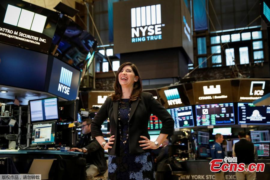 NYSE Chief Operating Officer Stacey Cunningham, who will be the New York Stock Exchange\'s (NYSE) first female president, poses on the floor of the NYSE in New York, U.S., May 22, 2018. For the first time in its 226-year history, the New York Stock Exchange has a woman president. Stacey Cunningham, who is currently the NYSE's chief operating officer, will become the exchange's 67th president as of Friday.(Photo/Agencies)