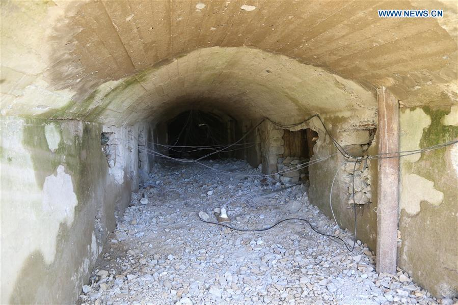 Photo taken on May 24, 2018 shows explosive devices in the No. 2 tunnel at the nuclear test site of Punggye-ri, the Democratic People\'s Republic of Korea. The Democratic People\'s Republic of Korea has confirmed the demolition of its nuclear test site at Punggye-ri on Thursday, saying that all the tunnels have been collapsed by explosions and their entrances completely closed, according to the Korean Central News Agency (KCNA). (Xinhua/Cheng Dayu)