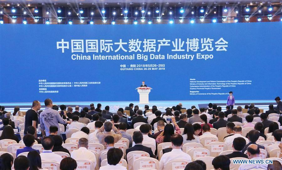 Photo taken on May 26, 2018 shows the China International Big Data Industry Expo opens in Guiyang, capital of southwest China\'s Guizhou Province. (Xinhua/Ou Dongqu)