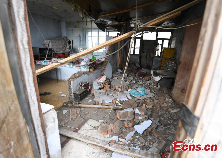An earthquake with a magnitude of 5.7 rocked Ningjiang District, Songyuan City of Northeast China\'s Jilin Province at 1:50 a.m. Monday Beijing time, according to the China Earthquake Networks Center (CENC). (Photo: China News Service/Zhang Yao)