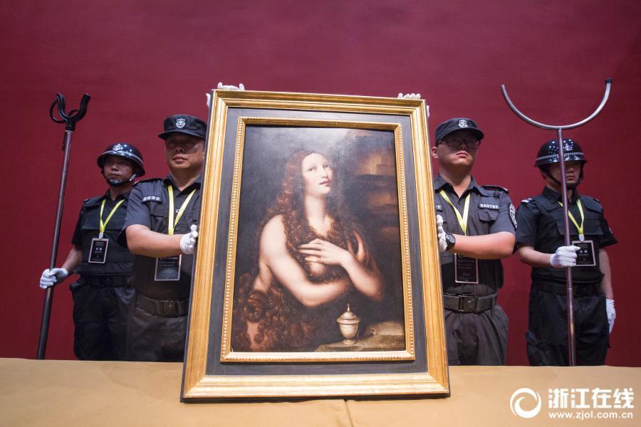 The exhibition of 250 items including works by three of the great master artists of Renaissance Italy - Leonardo, Raphael and Michelangelo will open at the Zhejiang Exhibition Hall in Hangzhou City, East China's Zhejiang Province on June 8, 2018.