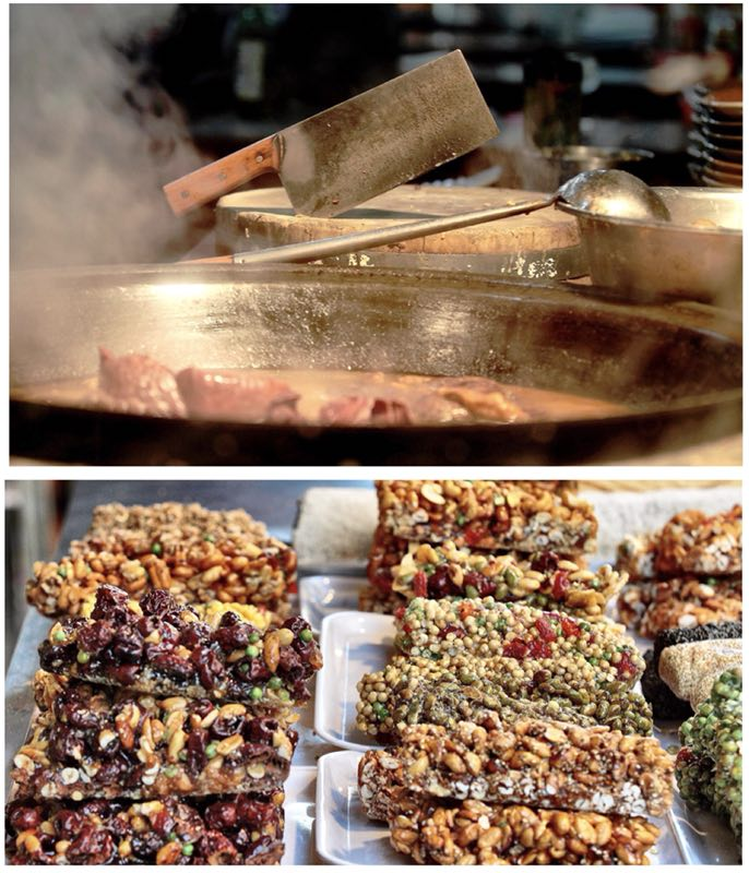 Traditional foods in Dashilar 2015. (Photo by Bruce Connolly/chinadaily.com.cn)