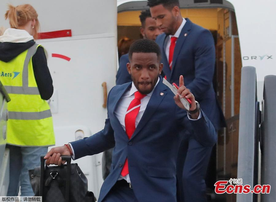 Peru\'s Jefferson Farfán arrives at the Sheremetyevo international airport, outside Moscow, Russia, to compete in the 2018 World Cup in Russia. (Photo/Agencies)
