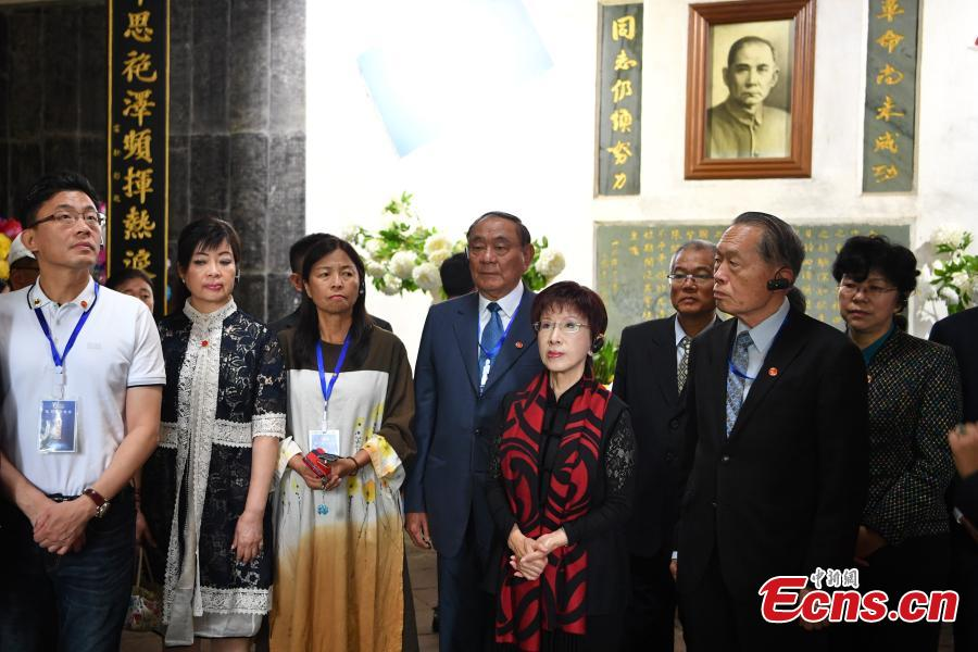 Hung Hsiu-chu, the former chairwoman of the Kuomintang in Taiwan, visits the Western Yunnan War of Resistance against Japanese Aggression Memorial in Tengchong County, Yunnan province, June 11, 2018. (Photo: China News Service/Liu Ranyang)