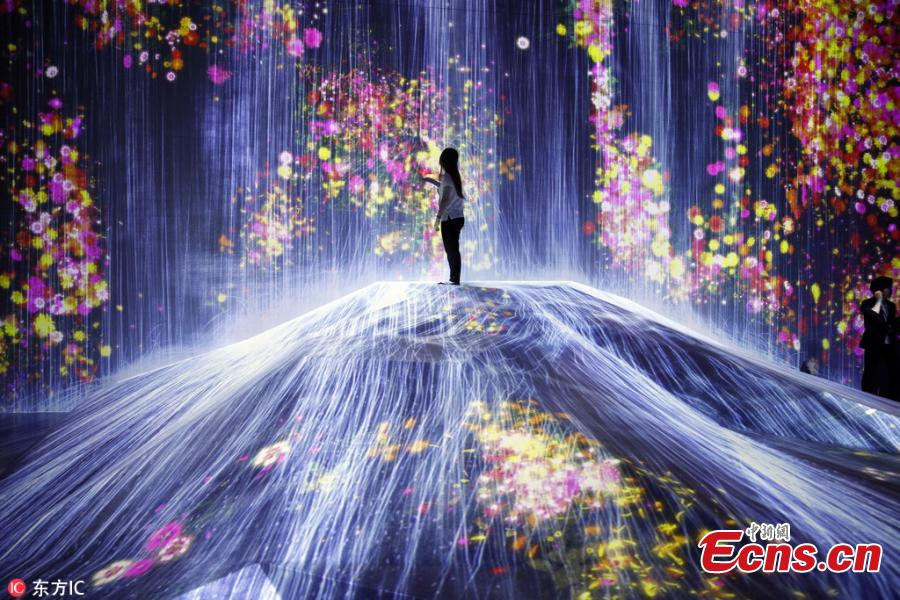 The Flower Filled Waterfall Is The Work Of Japanese Collective Teamlab Known Internationally For