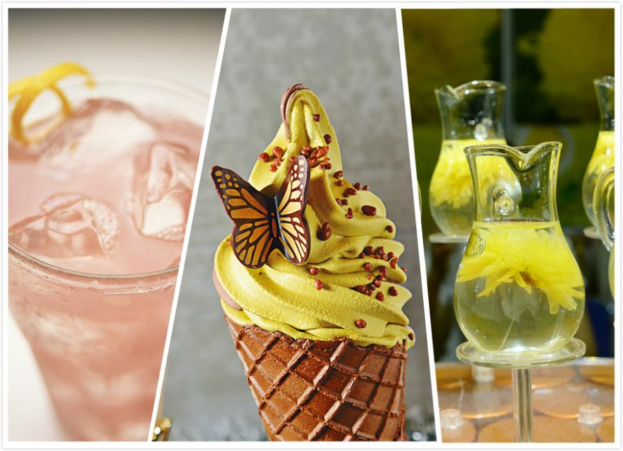 Ice, ice cream and chrysanthemum tea