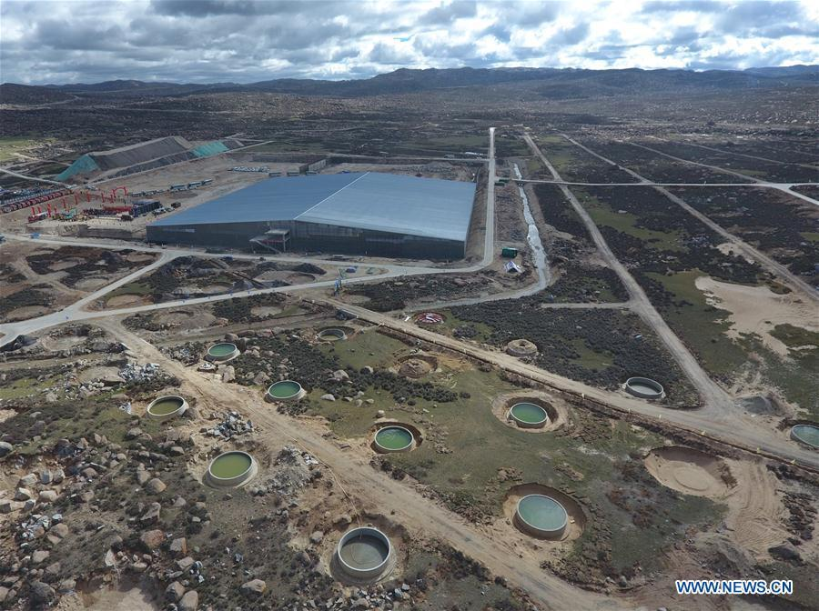 Aerial photo taken on June 19, 2018 shows the Muon Detectors in the Large High Altitude Air Shower Observatory (LHAASO) which is under construction in Daocheng County, southwest China\'s Sichuan Province. An observatory for detecting cosmic rays is being built in Sichuan Province. The project, known as the LHAASO, is located in mountains of the eastern part of Qinghai-Tibet Plateau at an average altitude of 4,410 meters. (Xinhua/Liu Kun)