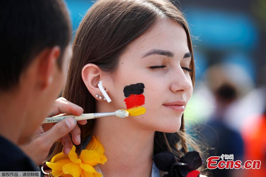 A fan during the match between Germany and Mexico in Luzhniki Stadium, Moscow, Russia, June 17, 2018. (Photo/Agencies)