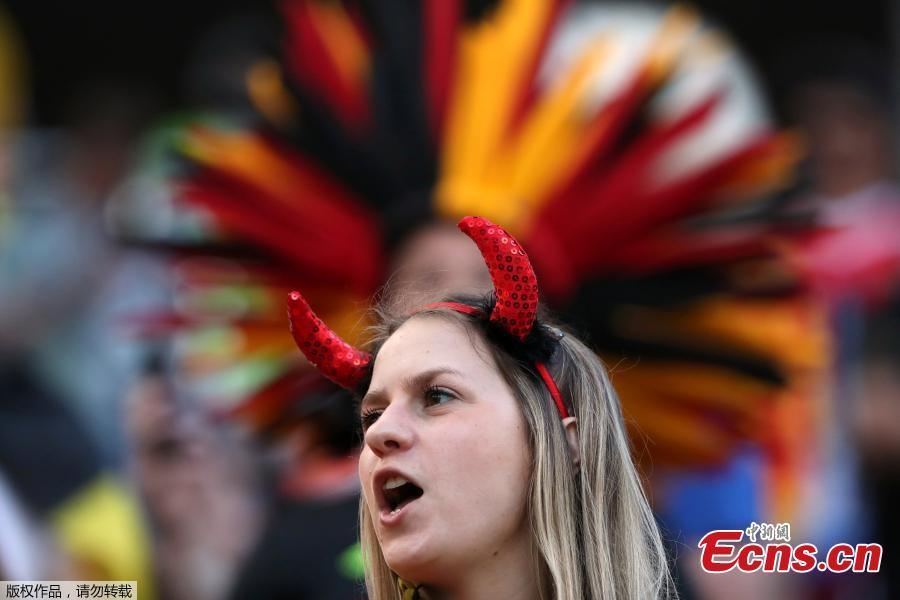 <?php echo strip_tags(addslashes(A Belgium fan before the match between Belgium and Panama in Fisht Stadium, Sochi, Russia, June 18, 2018. (Photo/Agencies))) ?>
