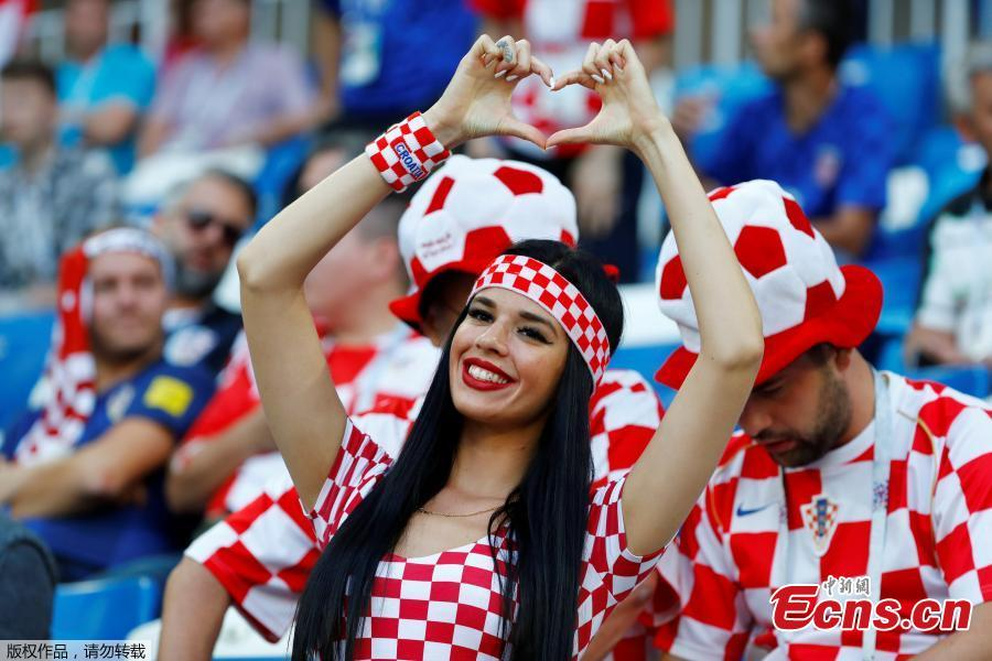 <?php echo strip_tags(addslashes(Croatia fan inside the stadium before the match between Croatia and Nigeria in Kaliningrad Stadium, Kaliningrad, Russia, June 16, 2018. (Photo/Agencies))) ?>