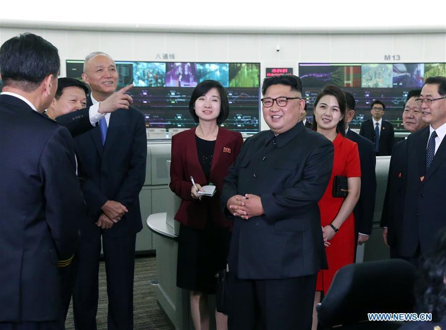 Kim Jong Un, chairman of the Workers\' Party of Korea (WPK) and chairman of the State Affairs Commission of the Democratic People\'s Republic of Korea (DPRK), visits the Beijing rail traffic control center in Beijing, capital of China, June 20, 2018. Xi Jinping, general secretary of the Central Committee of the Communist Party of China (CPC) and Chinese president, met with Kim Jong Un at the Diaoyutai State Guesthouse in Beijing on Wednesday. (Xinhua/Yao Dawei)