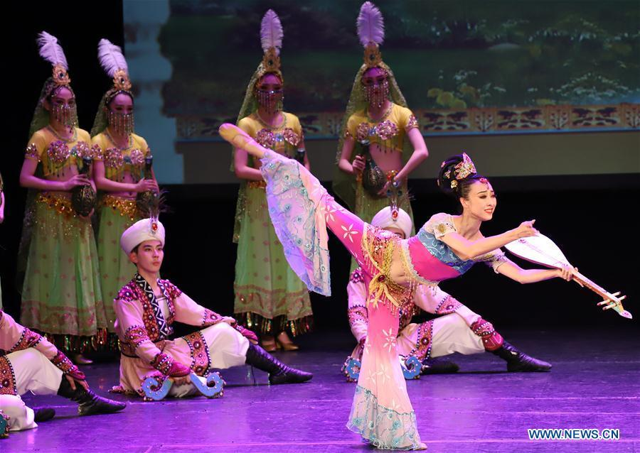 Dancers of the Chinese Gansu Dance Theater perform in a dance drama \
