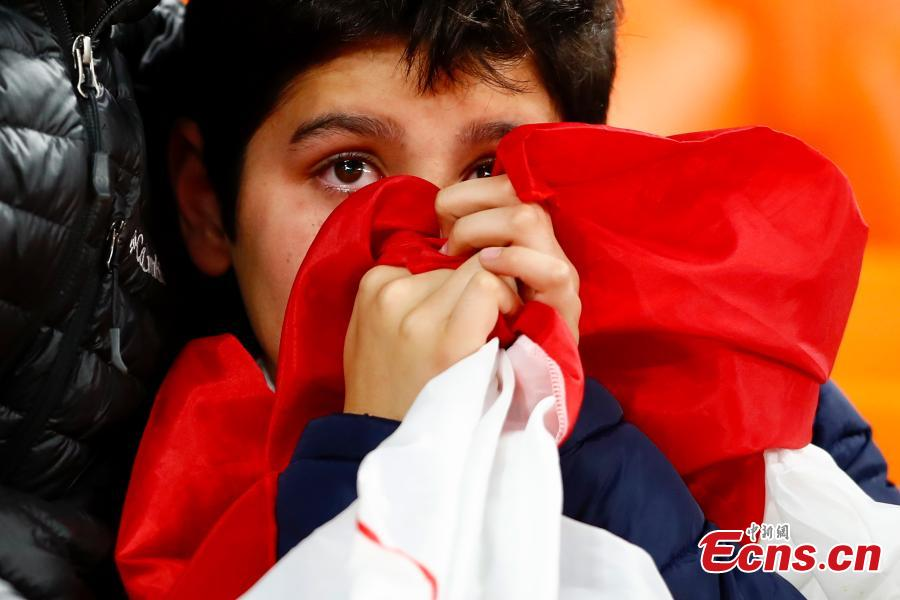 A Peru fan reacts as he watches the World Cup match between France and Peru in Moscow, Russia, June 21, 2018. (Photo: China News Service/Fu Tian)