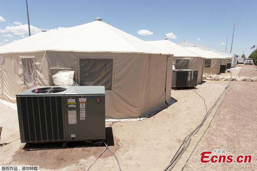 Photo released by the U.S. Department of Health and Human Services on June 25 shows medical facilities at the Tornillo facility, a shelter for children of detained migrants, in Tornillo, Texas, U.S.. (Photo/Agencies)