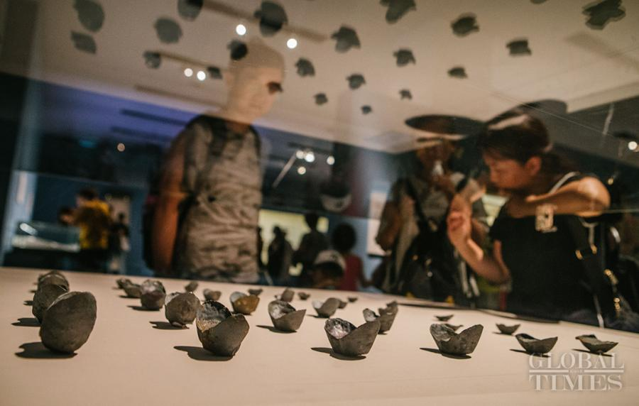Silver ingots from the Ming Dynasty (1368?1644) are displayed at the museum. (Photo: Li Hao/GT)