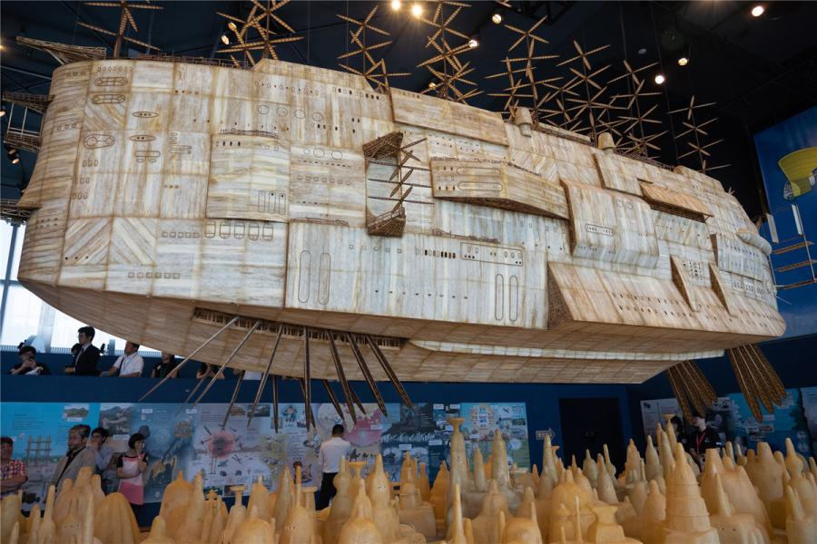 The 8-meter-long airship featured in Castle in the Sky. (Photo/chinadaily.com.cn)