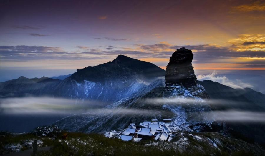 A file photo of Fanjing Moutain in Guizhou.  (Photo provided by Zhou Wenqing)