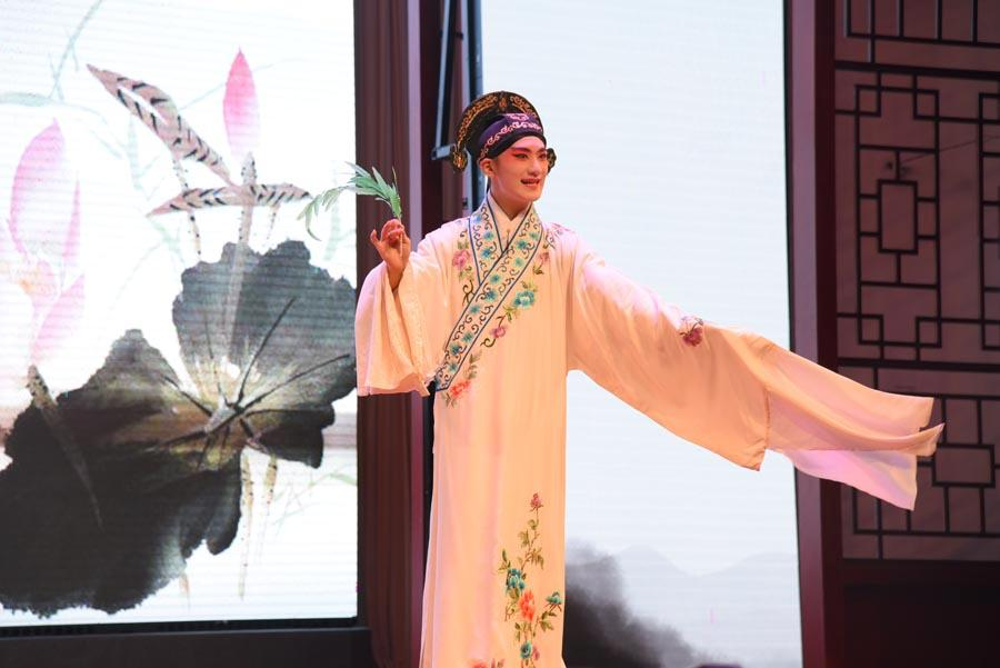 An artist performs The Peony Pavilion: The Dream in the Garden to show the magic of Kunqu Opera to audiences. 