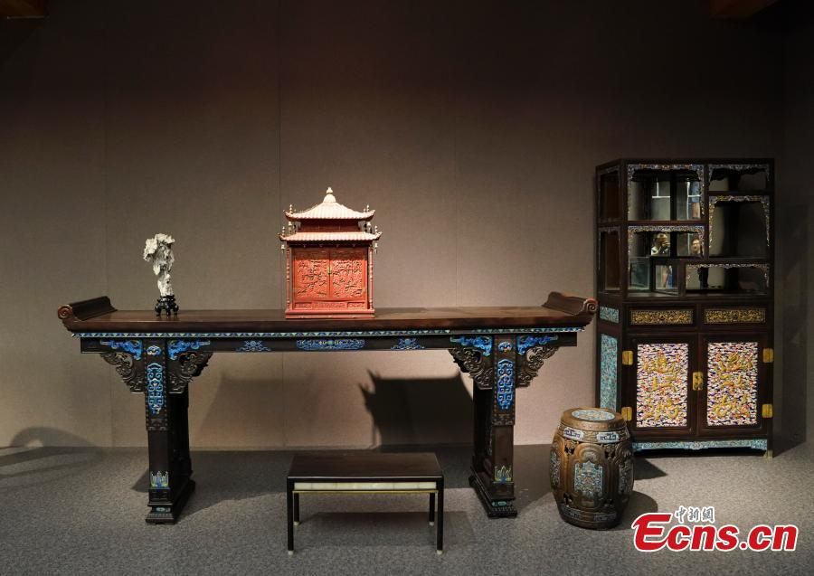 Photo taken on July 6, 2018 shows preparations underway to open the Nanxun Hall area in Nandaku, or the southern grand warehouse, at the Palace Museum, Beijing. The area will be used as a gallery to display imperial furniture in the Kangxi, Qianlong and Yongzheng periods of the Qing Dynasty (1644-1911) in the first stage, and then furniture from the Ming Dynasty (1368-1644) later, eventually bringing the total number of exhibits to 2,000. (Photo: China News Service/Du Yang)