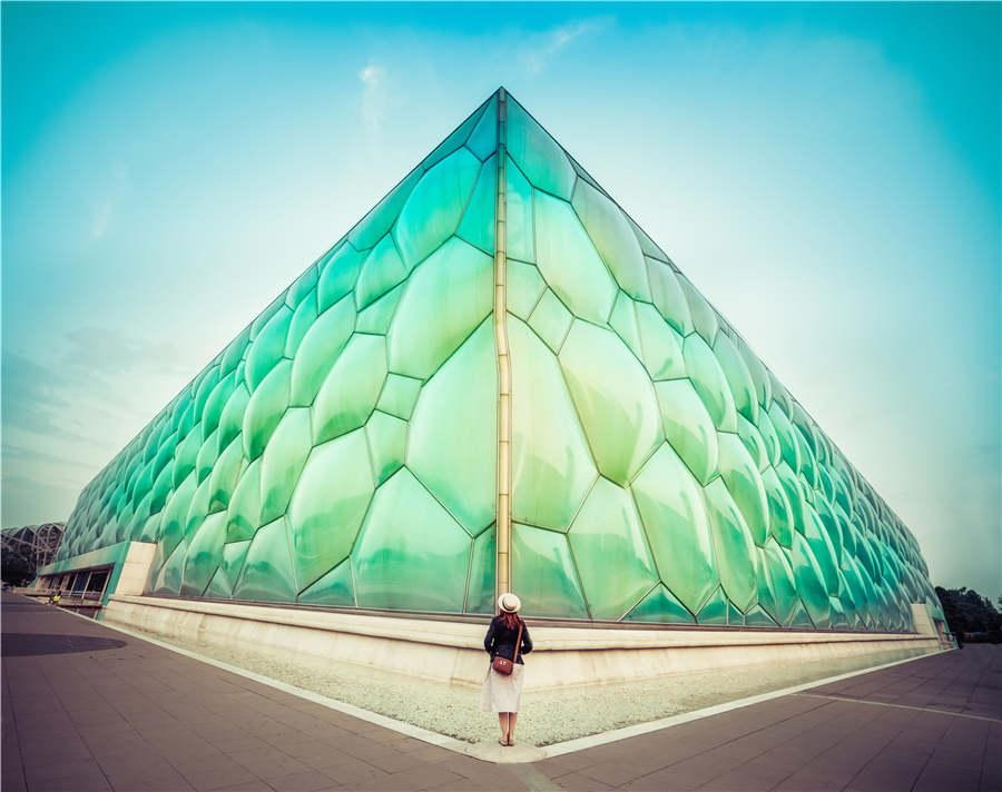 A photo of water cube in Beijing by photographer Trey Ratcliff. (Photo provided to chinadaily.com.cn)