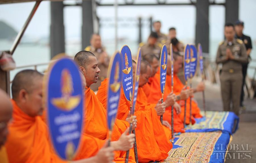 Buddhist monks, families of the victims, representatives from the Phuket government and the army attended the ceremony. (Photo: Cui Meng/GT)