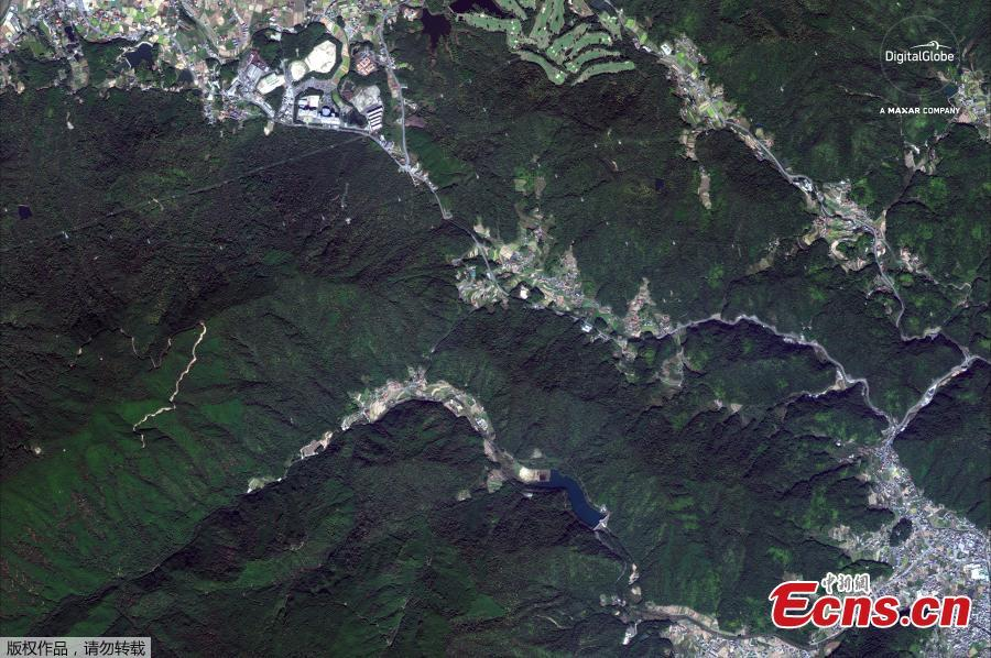 A satellite image captured on October 26, 2017 shows Yasuura, Japan before floods. (Photo/Agencies)