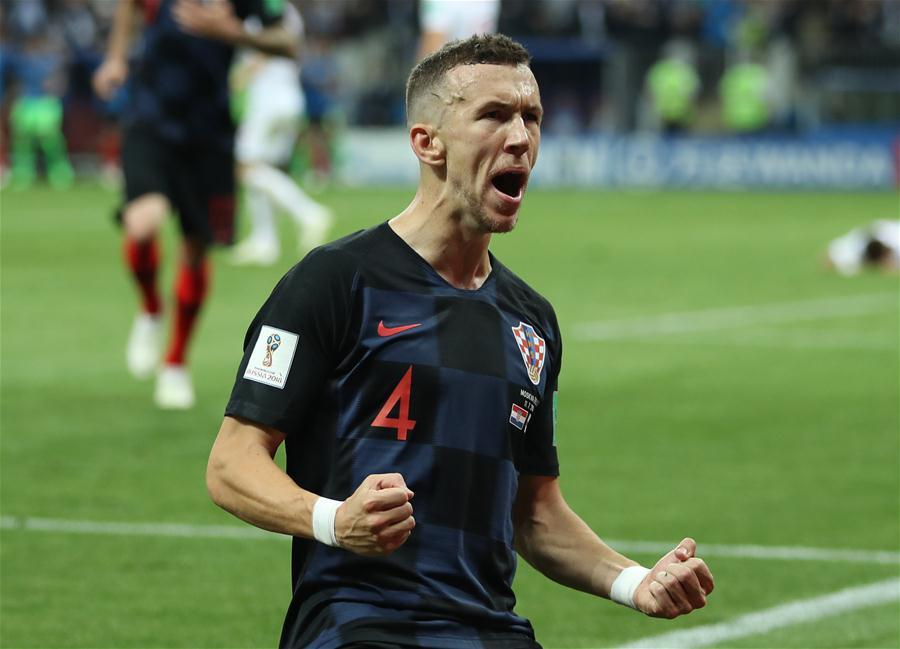 <?php echo strip_tags(addslashes(Ivan Perisic of Croatia celebrates scoring during the 2018 FIFA World Cup semi-final match between England and Croatia in Moscow, Russia, July 11, 2018. (Xinhua/Wu Zhuang))) ?>