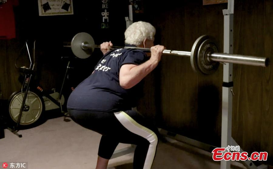 Shirley Webb didn't start working out until she turned 76. Unable to walk up the stairs to her home in Illinois, she hoped to reverse the effects of aging. Years ago, she joined Club Fitness in Wood River, Illinois, with her granddaughter. Now she holds the national record for deadlifting in her age, a staggering 255lbs at the ripe age of 80. (Photo/IC)