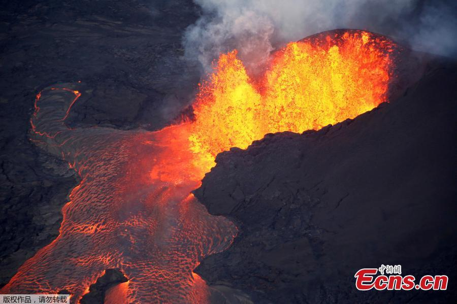 File photo: Lava erupts in Leilani Estates during ongoing eruptions of the Kilauea Volcano in Hawaii, U.S., June 5, 2018.  (Photo/Agencies)