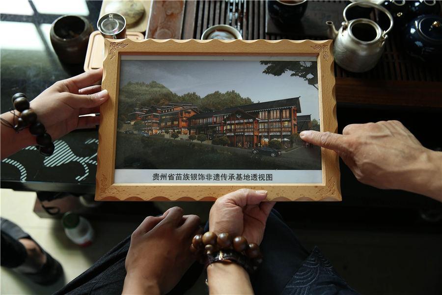 Design of Wang\'s silversmith village, July 12, 2018. (Photo//Asianewsphoto)