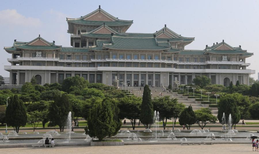 Grand People\'s Study House in Pyongyang, DPRK, on July 17, 2018. (Photo/Xinhua)  The Grand People\'s Study House is a central library located in Pyongyang, the capital of the Democratic People\'s Republic of Korea. Constructed in April 1982, the building is a base for lifelong education where courses are also offered. With a total floor space of 100,000 square meters, the building has 20 reading rooms and 14 classrooms. The building can house up to 30 million books. Currently, the study house has around 900 staff members, including 150 full-time instructors.  There are around one million foreign publications, including over 200,000 Chinese books, 100,000 English books, 460,000 Russian books, and 110,000 Japanese books, according to a report by Xinhua on Wednesday. Courses on natural science and five foreign languages - Chinese, English, Russian, German, Japanese - are offered to workers from all industries for free.