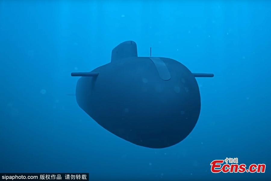 This photo shows Poseidon nuclear-powered and nuclear-armed unmanned underwater vehicle during the final stage of testing. Poseidon is a brand new intercontinental range undersea weapon able to destroy enemy naval bases and aircraft carriers. (Photo/Sipaphoto)