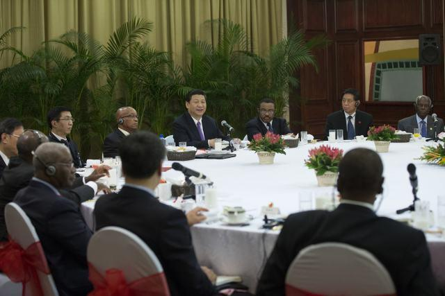 <?php echo strip_tags(addslashes(Chinese President Xi Jinping attends a breakfast meeting with African leaders in Durban, South Africa on March 28, 2013. (Photo/Xinhua)