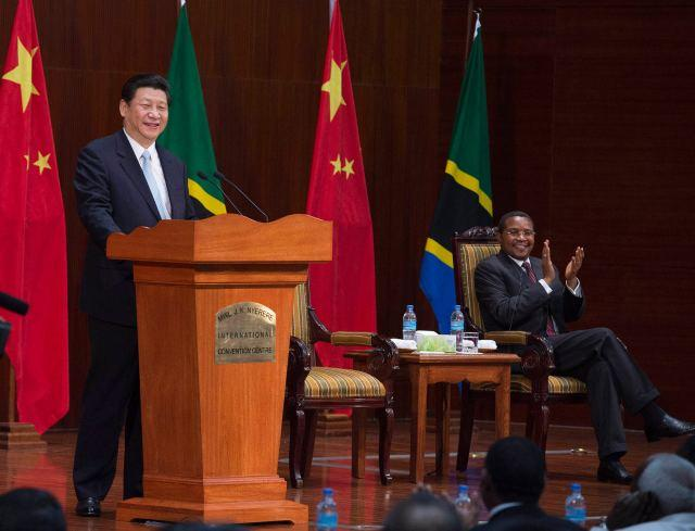 <?php echo strip_tags(addslashes(Chinese President Xi Jinping delivers a speech at the Julius Nyerere International Convention Center in Dar Es Salaam, Tanzania on March 25, 2013. (Photo/Xinhua)