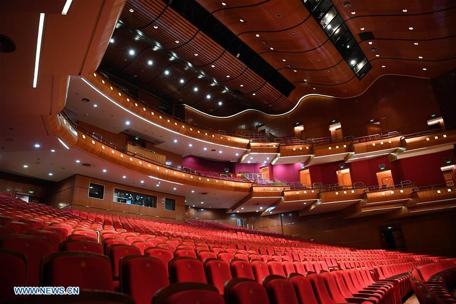 Photo taken on July 18, 2018 shows the inner view of National Grand Theater in Dakar, Senegal. China is now Senegal\'s second largest trading partner and biggest source of financing. The National Grand Theater, the Museum of Black Civilization and the National Wrestling Arena, built with Chinese assistance, stand as important venues to carry forward the culture and traditions of Senegal. (Xinhua/Yan Yan)