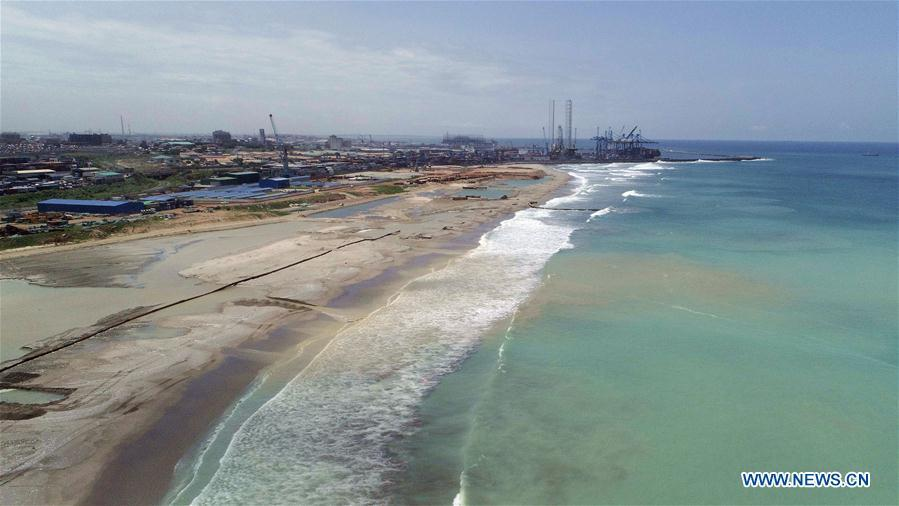 Aerial photo taken on May 31, 2018 shows the Tema Port in Tema, Ghana. In the past five years, China and African nations have deepened political mutual trust, mutual assistance in development and mutual learning in visions, and made concerted efforts in building the Belt and Road and a closer China-Africa community with a shared future. (Photo/Xinhua)