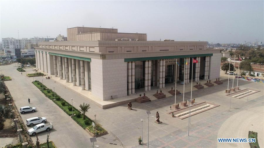 Aerial photo taken on June 6, 2018 shows the general view of National Grand Theater in Dakar, Senegal. In the past five years, China and African nations have deepened political mutual trust, mutual assistance in development and mutual learning in visions, and made concerted efforts in building the Belt and Road and a closer China-Africa community with a shared future. (Photo/Xinhua)