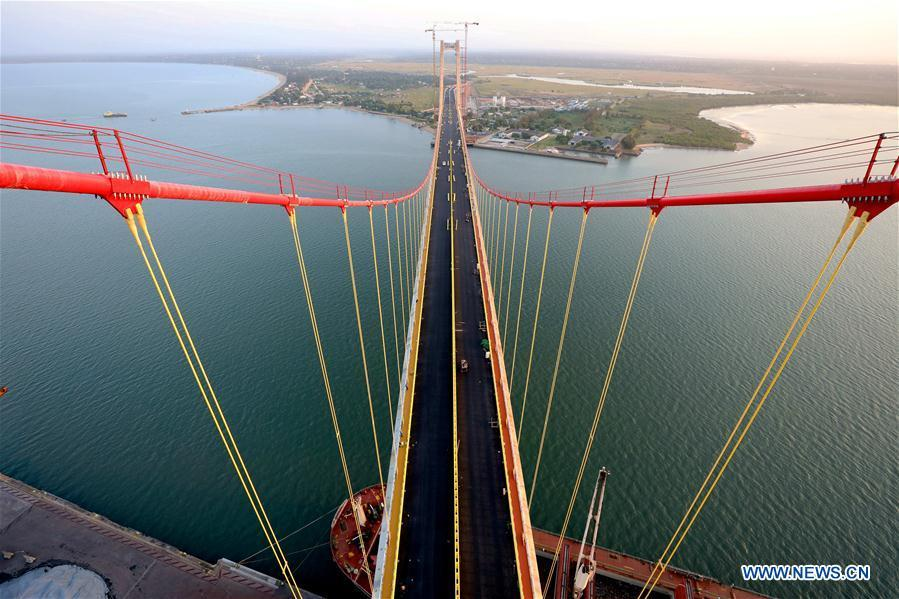 Aerial photo taken on May 10, 2018 shows the Chinese-built Maputo Bridge in Maputo, Mozambique. In the past five years, China and African nations have deepened political mutual trust, mutual assistance in development and mutual learning in visions, and made concerted efforts in building the Belt and Road and a closer China-Africa community with a shared future. (Photo/Xinhua)