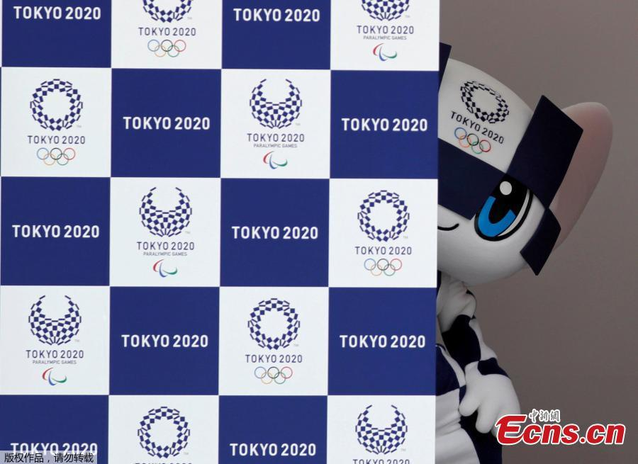 Tokyo 2020 Olympic Games mascot Miraitowa stands on stage during the mascots\' debut in Tokyo, Japan, July 22, 2018. (Photo/Agencies)