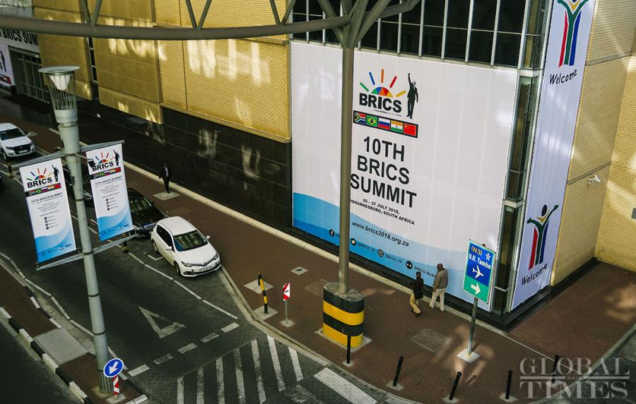 The venue for the upcoming 10th BRICS summit in Johannesburg, which is to be held from July 25 to July 27, is being heavily guarded as workers make final preparations in advance of the arrival of leaders from Brazil, Russia, India, China and South Africa. (Photos: Li Hao/GT)
