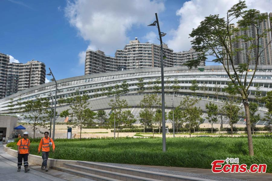 Photo taken on July 26, 2018 shows the West Kowloon Station of the Guangzhou-Shenzhen-Hong Kong Express Rail Link that will open in September. The Hong Kong section of the Express Rail Link runs from the station in West Kowloon north to the Shenzhen-Hong Kong border, where it connects with the mainland section. (Photo: China News Service/Sheung Man Mak)
