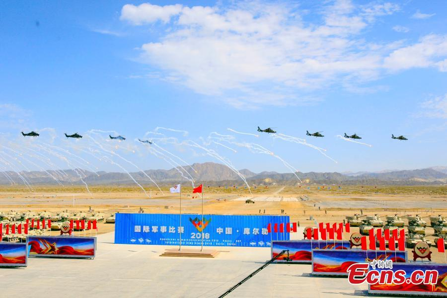 The International Army Games 2018 in northwest China\'s Xinjiang Uygur Autonomous Region, July 29, 2018. Three of the four contests, \
